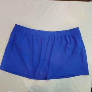 Gossip Womens Swimwear Skort Bottom, 3X, Blue NWT